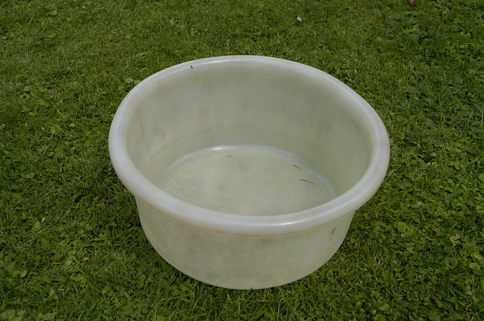 Plastic (LDPE) bowl, by GEECO, Made in England, c1950