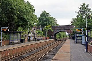 Westhoughton railway station Railway station in Greater Manchester, England