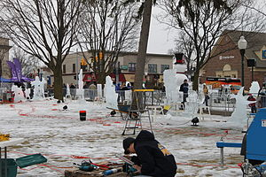 Plymouth, Michigan - Plymouth Ice Festival, 2010