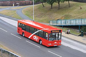 Plymouth Citybus - Dennis Dart in the latest version of the livery