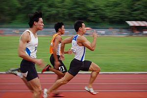 Athletics at the 2003 Southeast Asian Games - Poh Seng Song anchored the Singaporean relay team to a silver medal.