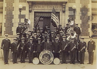 Police band (music) - The New Orleans Police band pictured in about 1928.