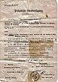 Polizeiliche.Strafverfügung.Oma.1942.Bußgeldbescheid.10.Reichsmark.Fahrradfahren.ohne.Licht.jpg