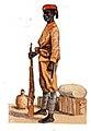 Polizeitruppe Kamerun Polizeisoldat im Zolldienst um 1910.jpg