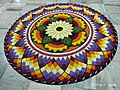 Pookkalam (Onappookkalam) Цветочный ковер в Ашраме Nithyananda Hosdurg Kanhangad 01.jpg