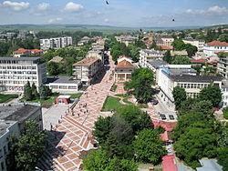 Изглед от центъра на града