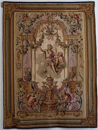 Portière - Image: Portière de Bacchus Tapestry