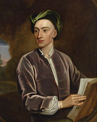 Portrait of Alexander Pope. Studio of Godfrey Kneller. Oil on canvas, c. 1716 Portrait of Alexander Pope.jpg