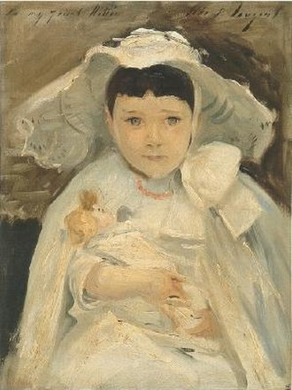 Huxley family - Portrait of Marion Roller (or Madge or Marian), Nettie and Harold's daughter (John Singer Sargent, 1893)