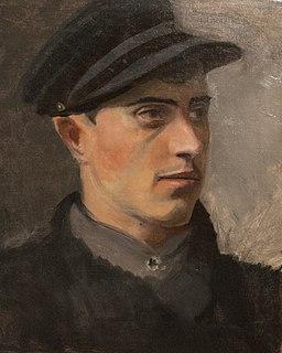 Portrait of a man - painting by László Mednyánszky-4