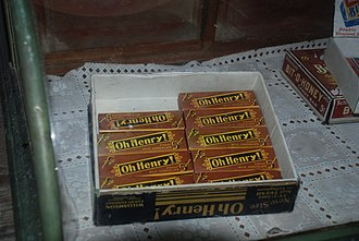 Oh Henry! - Box of Oh Henry! candy bars at General Store in Portsmouth, North Carolina.
