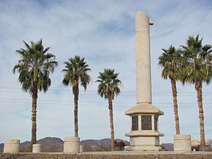 Poston, Arizona - Memorial Monument at the Poston War Relocation Center