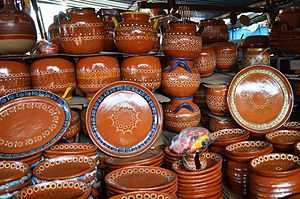 Tonalá, Jalisco - Basic dishes for sale at a stand at the Thursday street market of the city