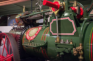 Powerhouse Museum - Agricultural steam engine in Steam Revolution Exhibition