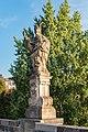 Praha 1, Karlův most, Sochy, Sv. Augustin 20170810 001.jpg