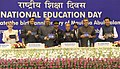 Pranab Mukherjee launching the Aakash Version 2.0 tablet, at the National Education Day 2012 function to commemorate the birth anniversary of Maulana Abul Kalam Azad.jpg