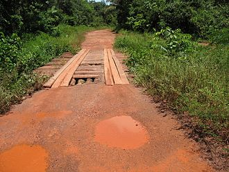 Transport in Suriname - Primary road between Paramaribo and Brownsweg.