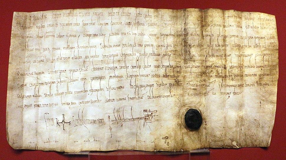 Privilegio di carlo magno alla chiesa di modena, 782 (facsimile)
