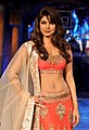 Priyanka on the ramp for Mijwan fashion show.jpg