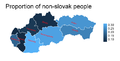Proportion of non-slovak people in each county.png