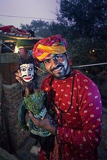 Kathputli (puppetry) puppet show