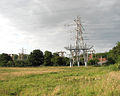 Pylons at the electricity sub-station in Trowse - geograph.org.uk - 1391535.jpg