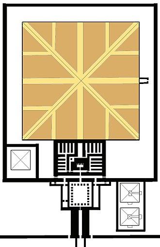 Pyramid of Senusret I - Diagram of the internal structure of the Pyramid of Senusret I.