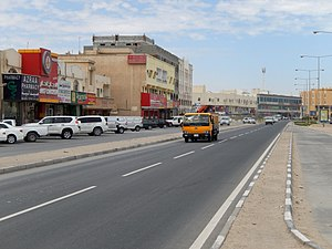Main road through centre, with shops