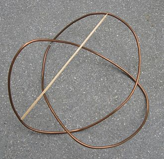 Erika Pannwitz - An example of a quadrisecant of a knot (a trefoil)