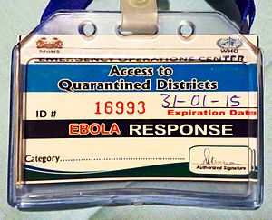 Cultural effects of the Ebola crisis - A quarantine travel pass for people providing help to people who are infected with Ebola