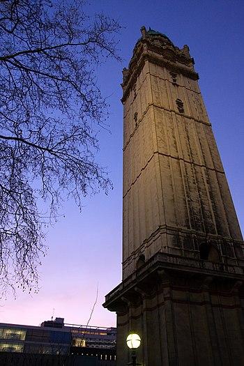 Queens tower dusk