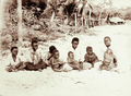 Queensland State Archives 5170 Family group on the beach at Darnley Island 1898.png