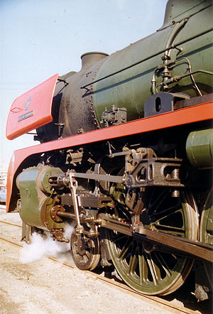 Victorian Railways R class - SCOA-P coupled wheels and Witte smoke deflectors, R 766, 1993