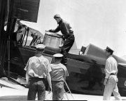 RAdm King SOC on USS Lexington 1936