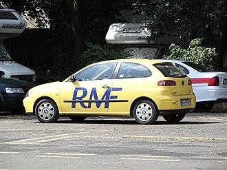 RMF FM -  Radio RMF FM. Seat Ibiza in Poznan.