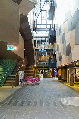 RMIT Melbourne City campus - RMIT New Academic Street complete renovation in 2017