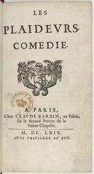 Jean Racine: Les Plaideurs. Comédie