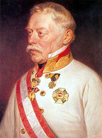 First Italian War of Independence - General Josef Radetzky, commander of the Austrian army in Lombardy-Venetia, portrait by Georg Decker (1818-1894)
