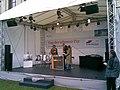"Radioeins Live-Sendung - mit Patricia Pantel, Andreas ""Autopapst"" Keßler und Bundesverkehrsminister Tiefensee.jpg"