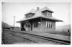 Unadilla, New York - Depot in Unadilla, 1870