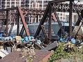 Railroad bridge west 2, Cedar Rapids, June 22 2008.jpg