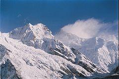 Himalayan peaks in Sikkim.