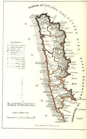 Ratnagiri district - Ratnagiri district 1896
