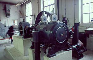 Augsburg Railway Park - Raupach steam engine in its intermediate location