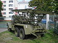 Rear view of a BM-13-16 on a ZiS-151 chassis in a military museum in Belarus.jpg