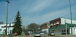 Downtown Redgranite, Wisconsin