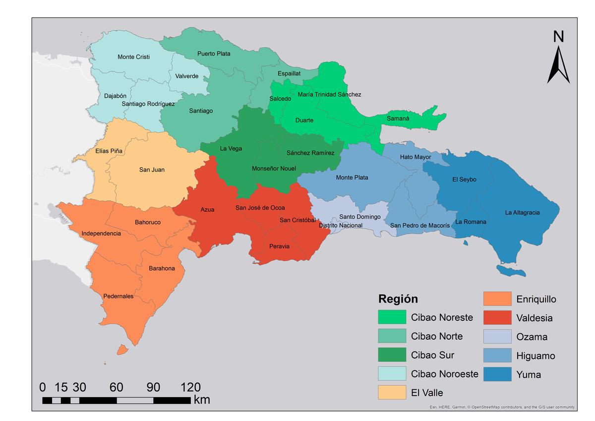 Regiones de desarrollo de la República Dominicana y regiones naturales