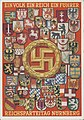 Reichsparteitag Nürnberg Ein Volk Ein Reich Ein Fuehrer Herladik Wappen Landeswappen Staatswappen Hakenkreuz NSDAP Propaganda Postkarte Nuremberg Nazi Party Congress Postcard German Coats of Arms heraldry Swastika Public domain.jpg