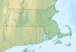 Location of Watson Pond in Massachusetts, USA.