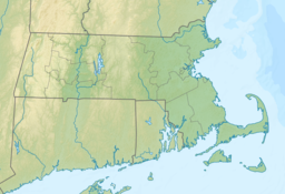 Location of Pine Lake in Massachusetts, USA.